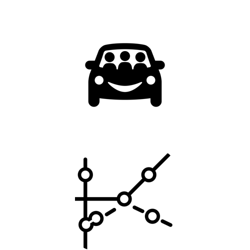 Image of WhichRide and Transit Glance app icons